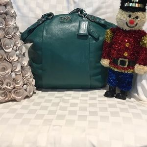 Never used w/Tag Green Coach Leather Lindsey Bag